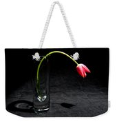 Red Tulip On Black Weekender Tote Bag