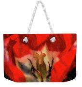 Red Tulip Texture Weekender Tote Bag
