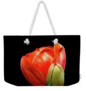 Red Tulip With Bud Weekender Tote Bag