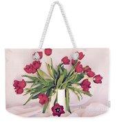 Red Tulips In Full Bloom Weekender Tote Bag