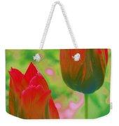 Red Tulips Pop Art Weekender Tote Bag