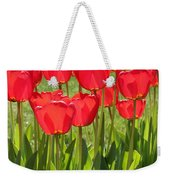 Red Tulips Square Weekender Tote Bag