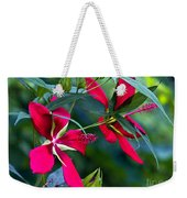 Red Twins One Weekender Tote Bag