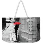 Red Umbrella In London Weekender Tote Bag