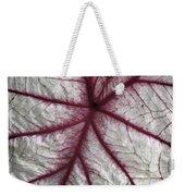 Red Veined Leaf Weekender Tote Bag