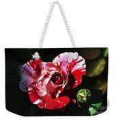 Red Verigated Rose Weekender Tote Bag