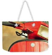Red Vespa Weekender Tote Bag