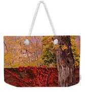 Red Vine With Maple Tree Weekender Tote Bag