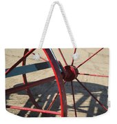 Red Waggon Wheel Weekender Tote Bag