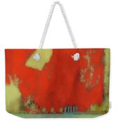Red Wall With Boot  Weekender Tote Bag