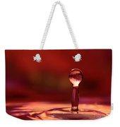 Red Water Drop Weekender Tote Bag