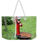 Red Water Pump Weekender Tote Bag