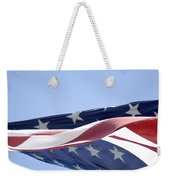 Red White And Blue - American Flag Weekender Tote Bag