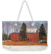 Red White And Blue Barn Weekender Tote Bag