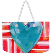 Red White And Blue Love- Art By Linda Woods Weekender Tote Bag