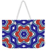 Red White And Blue Star Flowers 1- Pattern Art By Linda Woods Weekender Tote Bag