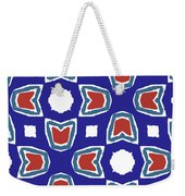 Red White And Blue Tulips Pattern- Art By Linda Woods Weekender Tote Bag