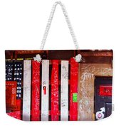 Red White And Fish Shack Weekender Tote Bag