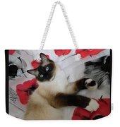Red White And Ragdoll Kitty Cat Silktapestrykittenstm  Weekender Tote Bag