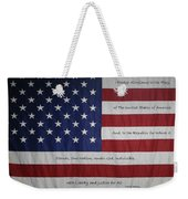 Red White And True Weekender Tote Bag