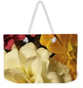 Red White And Yellow Zinnias Weekender Tote Bag