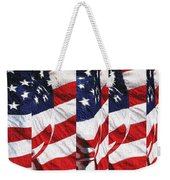 Red White Blue - American Stars And Stripes Weekender Tote Bag