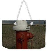 Red  White Hydrant Weekender Tote Bag