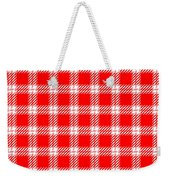 Red White Tartan Weekender Tote Bag