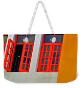 Red Windows Weekender Tote Bag