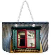 Red Windows Weekender Tote Bag