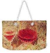 Red Wine 3 Weekender Tote Bag