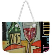 Red Wine And Cheese Poster Weekender Tote Bag