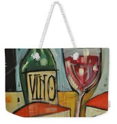 Red Wine And Cheese Weekender Tote Bag