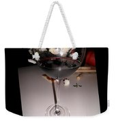 Red Wine With White Mums Weekender Tote Bag