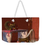 Red Wineglass Weekender Tote Bag by Corey Ford