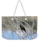 Red Winged Black Bird At Chatfield Weekender Tote Bag