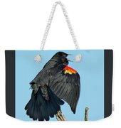Red-winged Blackbird Weekender Tote Bag