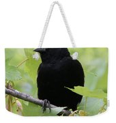Red-winged Blackbird Weekender Tote Bag by Doris Potter