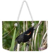 Red-winged Blackbird Weekender Tote Bag