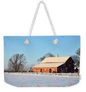 Red Winter Barn Weekender Tote Bag