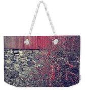 Red Winter Weekender Tote Bag