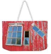 Red Wood And Windows Weekender Tote Bag