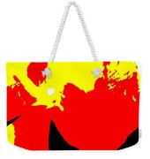 Red Yellow Abstract Weekender Tote Bag