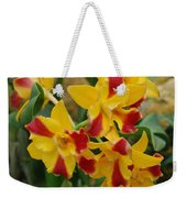Red Yellow Orchids Weekender Tote Bag