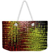 Red Yellow White Black Abstract Weekender Tote Bag