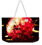 Red Zinnia Abstract Weekender Tote Bag