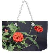 Red Zinnia Flowers Weekender Tote Bag