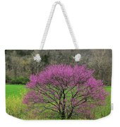 Redbud And Field In Jefferson County Weekender Tote Bag