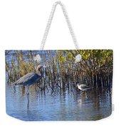 Reddish Egret And Yellowlegs Weekender Tote Bag