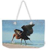 Reddish Egret Nabs A Fish Weekender Tote Bag